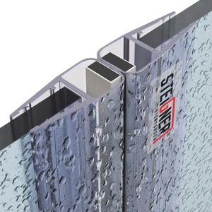 10 mm bande d/étanch/éit/é en silicone pour 3//8 po 248,9 cm verre H type 1 paquet 98 po Joint de porte coupe-froid sans cadre douche salle de bain porte en verre fond de porte