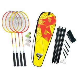 KIT BADMINTON TALBOT TORRO Set de Badminton 4-Fighter - 4 raquet