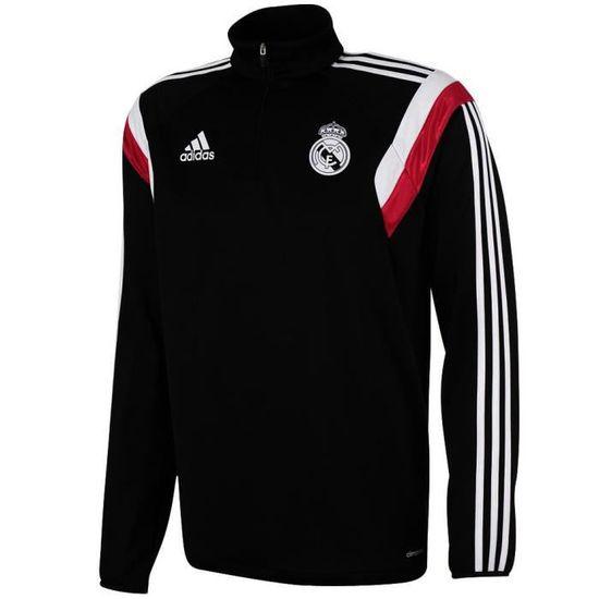 Sweat 1 4 Zip adidas Real Madrid 2014 2015 blanc rose