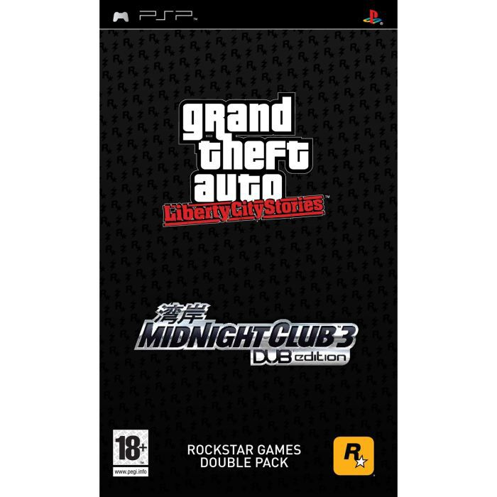 JEU PSP PACK GTA Liberty City Stories + MIDNIGHT CLUB 3 /