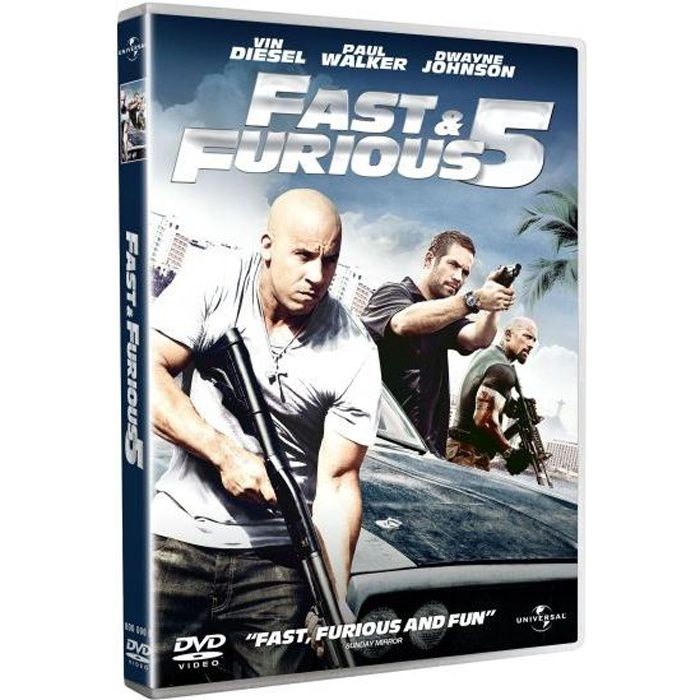 dvd fast and furious 5 en dvd film pas cher lin justin. Black Bedroom Furniture Sets. Home Design Ideas