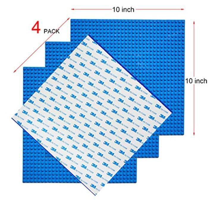 Jeu D'Assemblage T34HM 4 plaques de bloc de base autocollantes, chevilles 32x32 ou plaque de brique de construction classique auto-a