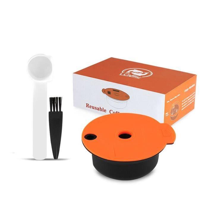 ICafilas – Capsules de café rechargeables, compatibles avec la Machine bosh-s, Tassimoo, dosette réutilisable, crème [F05B687]