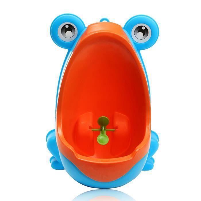 Pissoir Urinal Enfant Toilettes Mur Commode Animal Forme Vertical Potty Bleu Ve39446