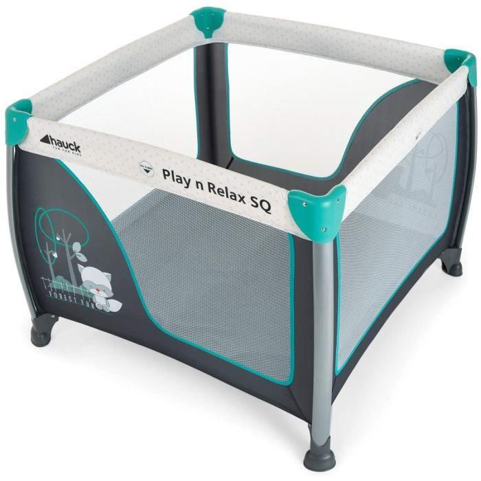 Hauck / Play N Relax SQ / Parc bébé et enfant / à 3 parties, carré / lit parapluie avec matelas et sac de transport / 90 x 90 cm / p