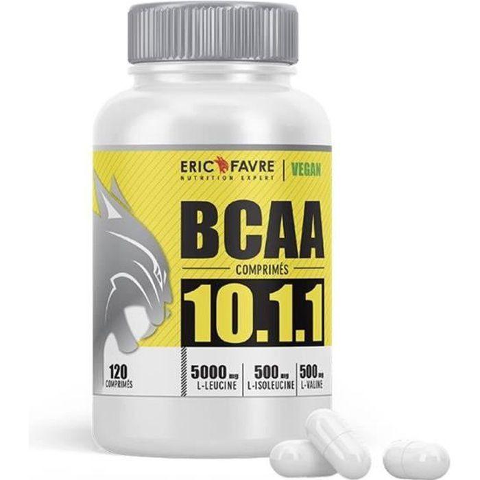 BCAA COMPRIMÉS 10.1.1 - Acides aminés Musculation Vegan - Programme 30J - Laboratoire Français Eric Favre