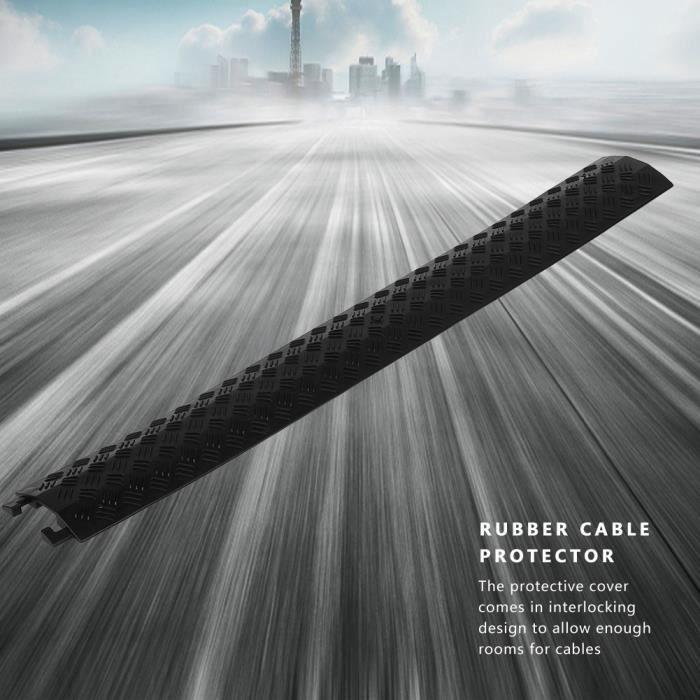 Ralentisseur 3pcs couverture de protection de câble de vitesse en caoutchouc monocanal robuste 95 x 13 x 1,6 cm (noir) HB042 -LEC