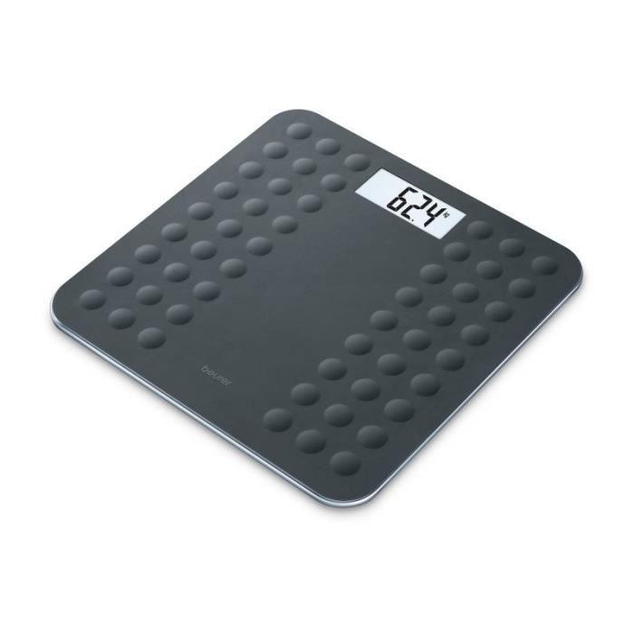 BEURER GS300 Pèse-personne avec surface en silicone antiglisse - Noir