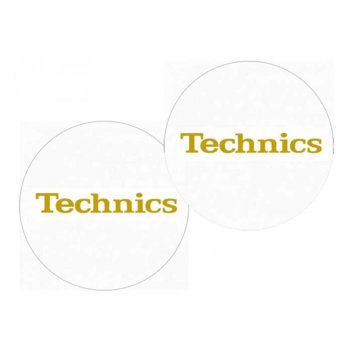 Feutrines Slipmats Technics Gold On White