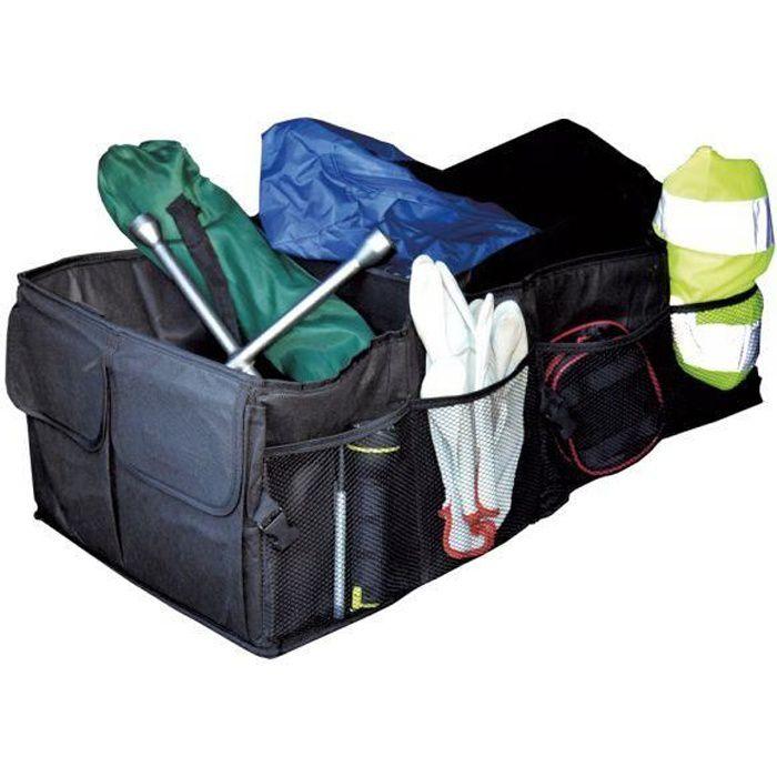 Rangement coffre de voiture - nombreux compartiments poches et filets