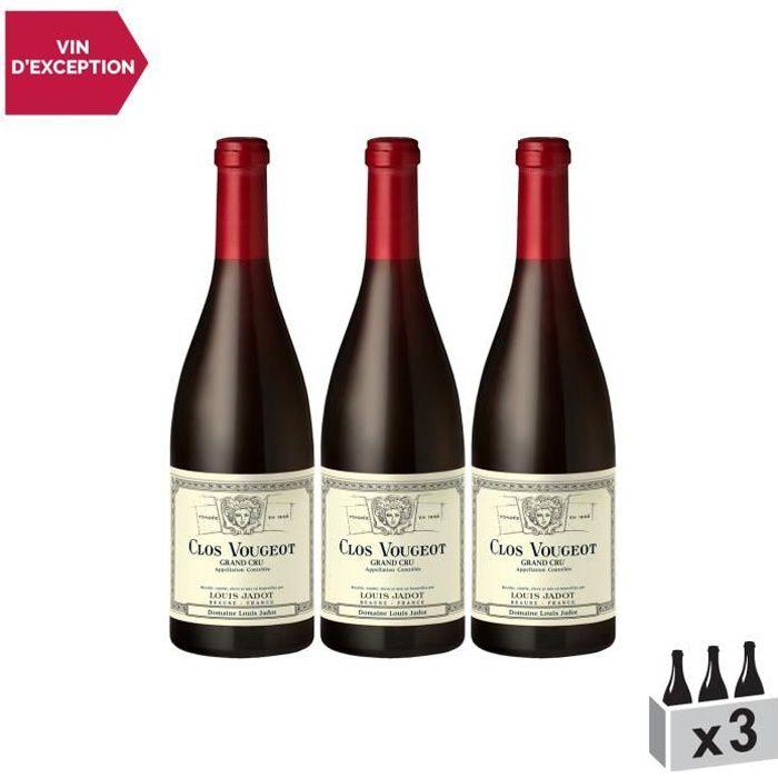 Clos Vougeot Rouge 2011 - Lot de 3x75cl - Louis Jadot - Vin AOC Rouge de Bourgogne - Cépage Pinot Noir
