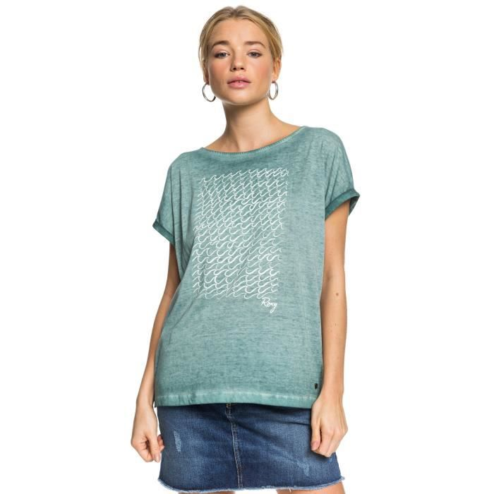 T-Shirt Summertime Happiness de la marque Roxy Femme en Bleu [XL]