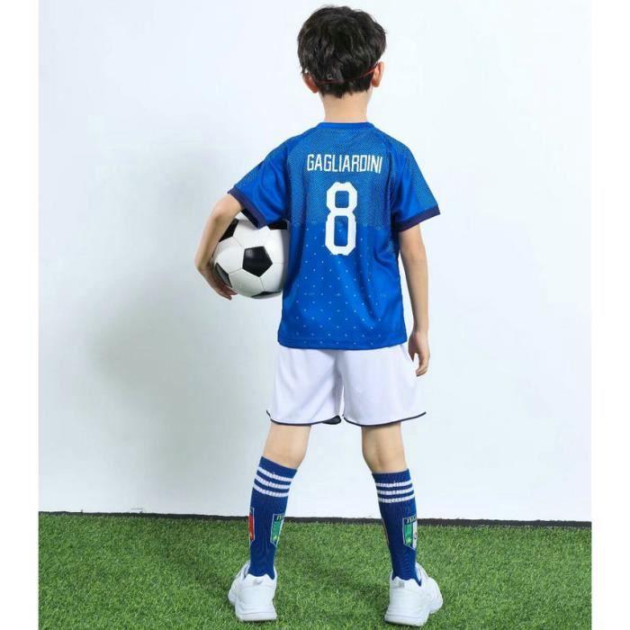 Maillot de football pour enfants Kaki 16 Ensemble avec numéro Maillot photo de groupe Maillot porté par les parents et les enfants
