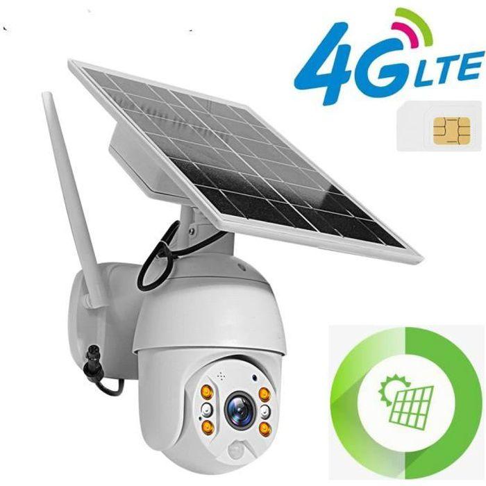 4G carte SIM caméra solaire 2MP HD Surveillance de sécurité extérieure ferme Ranch forêt longue veille étanche
