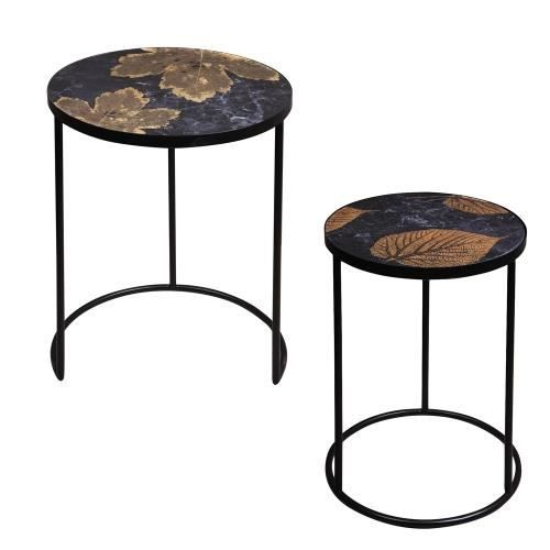 Set de 2 sellettes folia basses - Table Passion NEURE Décoré