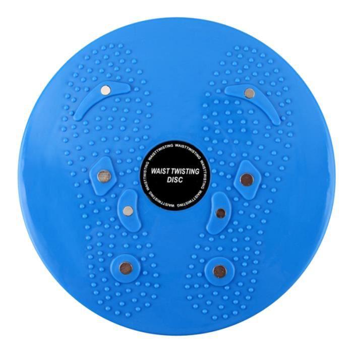 Twist Board Twisting Waist Disc Body Shaping Machine Petit équipement d'exercice intérieur Conseil rotatif (bleu)