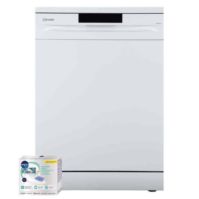 VEDETTE Lave-vaisselle posable blanc 47dB 13 couverts 60cm Panier réglable