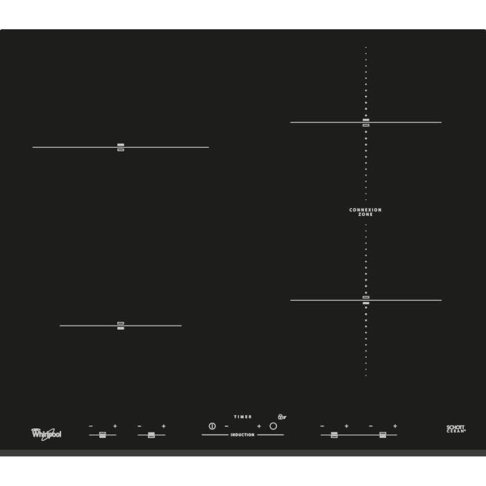 WHIRLPOOL ACM932BF Plaque de cuisson induction - 4 foyers - 7000W - L58 cm x P51cm - Noir