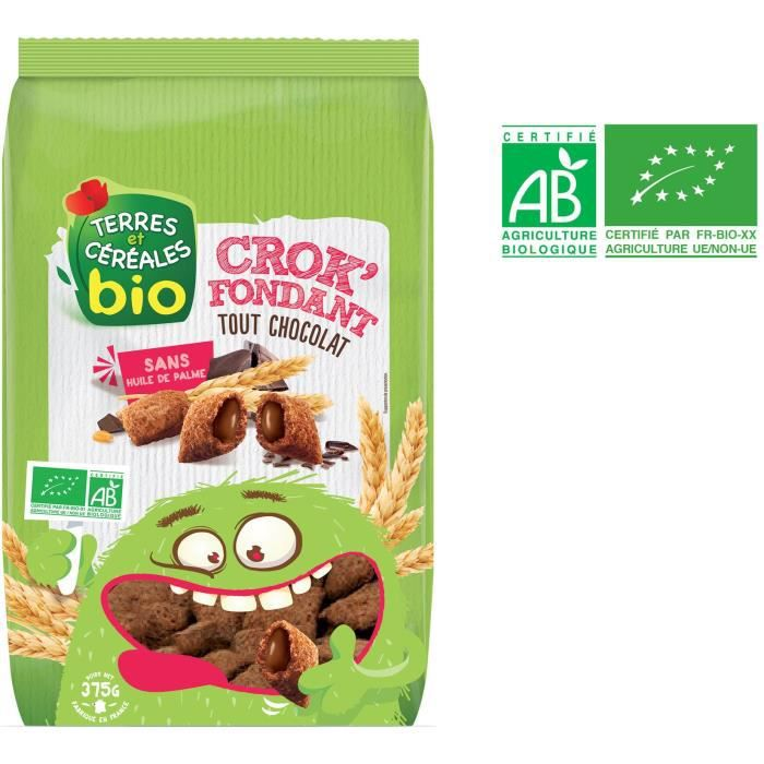 TERRES ET CEREALES Crok'fondant tout choco - 375 g