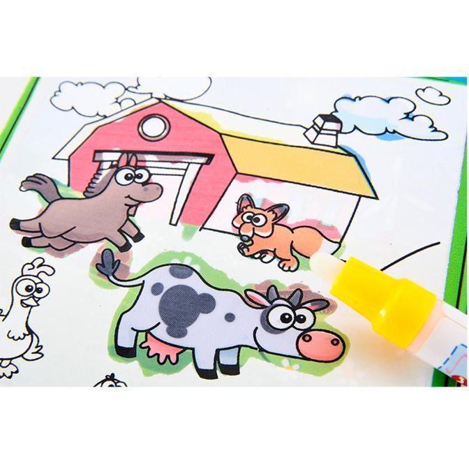 Magic Water Livre De Dessin Coloriage Livre Doodle Magic Pen Animaux Peinture Xlq60623701