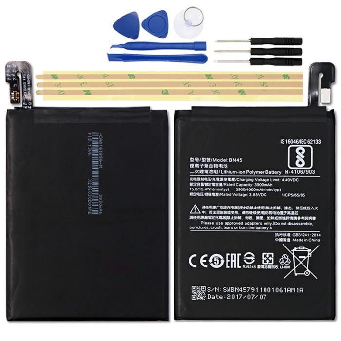 Batterie téléphone Pour Xiaomi note 2 Redmi Note 5 Batterie 3900mAh X