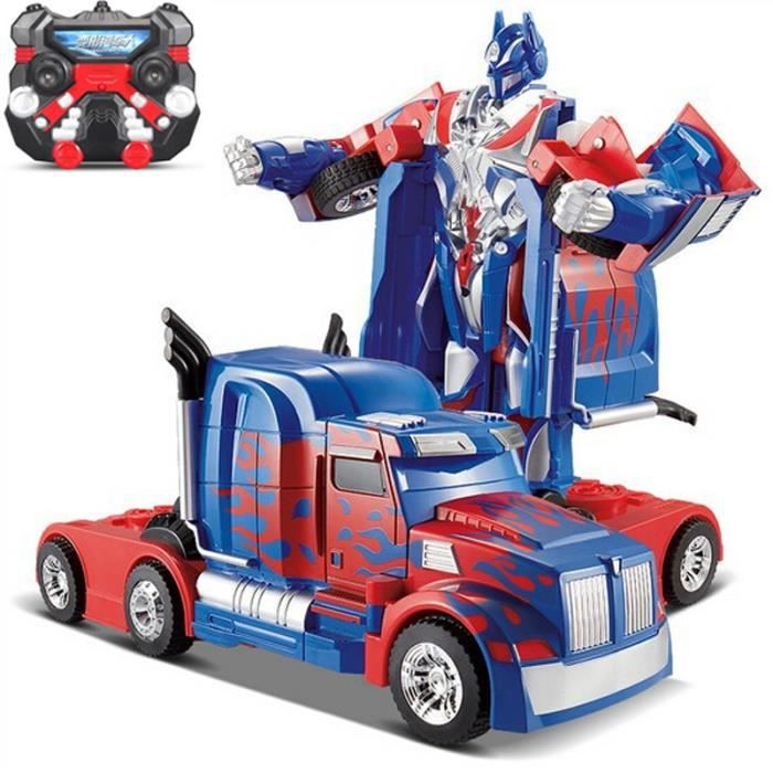voiture transformers radiocommand e peterbilt optimus prime 2009855915086 achat vente. Black Bedroom Furniture Sets. Home Design Ideas
