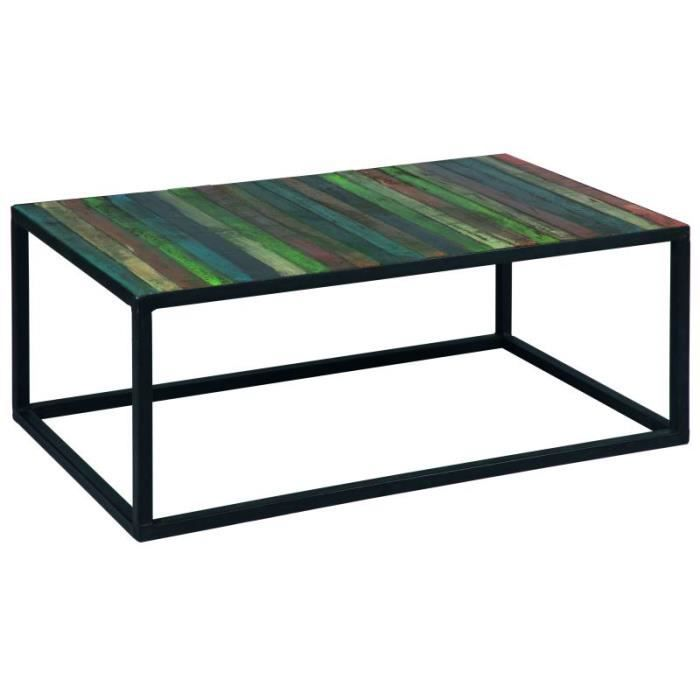 table basse acier sheesham couleur achat vente table. Black Bedroom Furniture Sets. Home Design Ideas