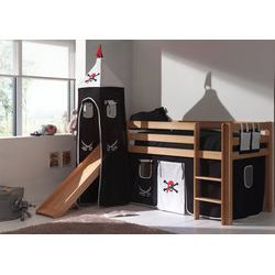 lit sur lev enfant avec toboggan habillage p achat vente lit combin mezzanine lit. Black Bedroom Furniture Sets. Home Design Ideas