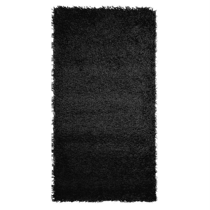 tapis shaggy descente de lit longue m che noir achat vente tapis cdiscount. Black Bedroom Furniture Sets. Home Design Ideas