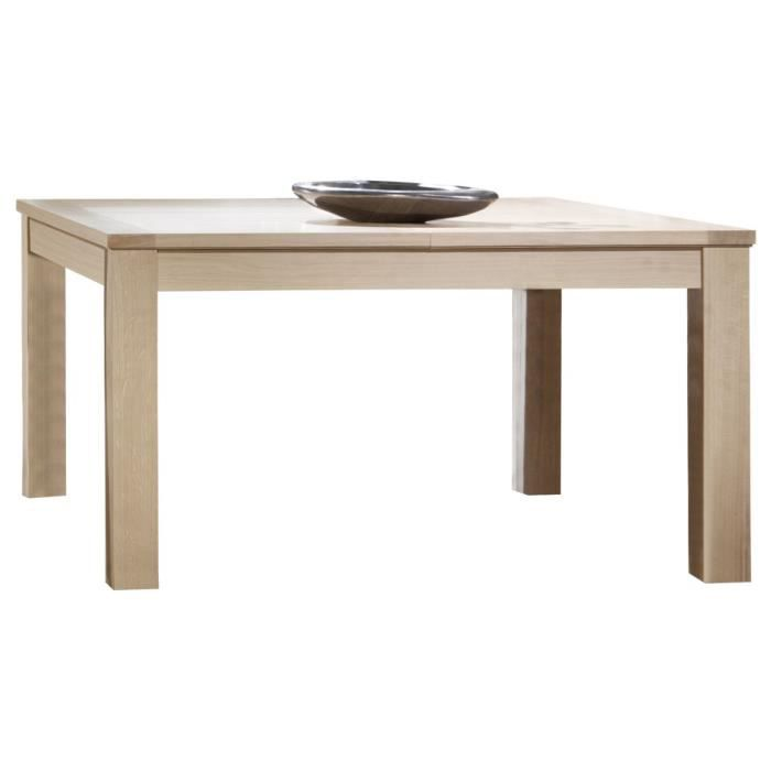 table carr e ch ne massif naturel l135 1 allonge papillon meuble style moderne structure. Black Bedroom Furniture Sets. Home Design Ideas