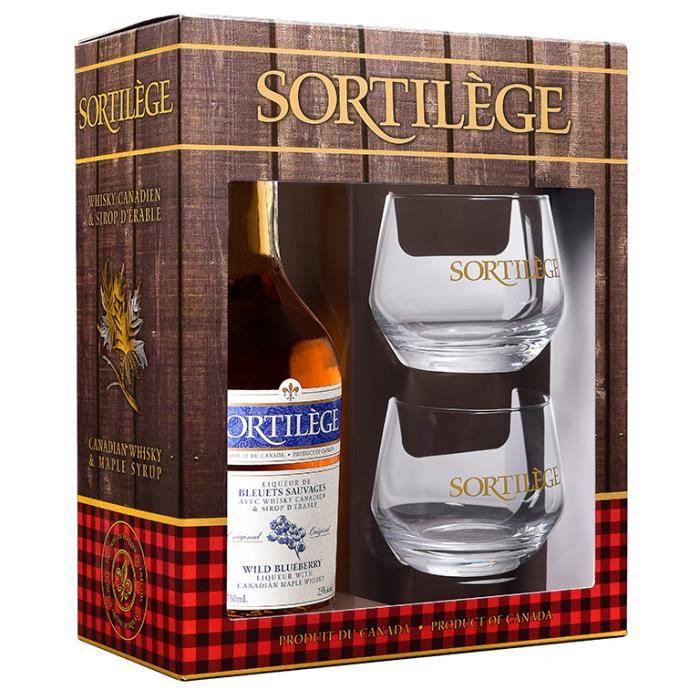 COFFRET CADEAU GOURMAND Coffret cadeau Sortilège whisky Bleuets 750 ml/23°