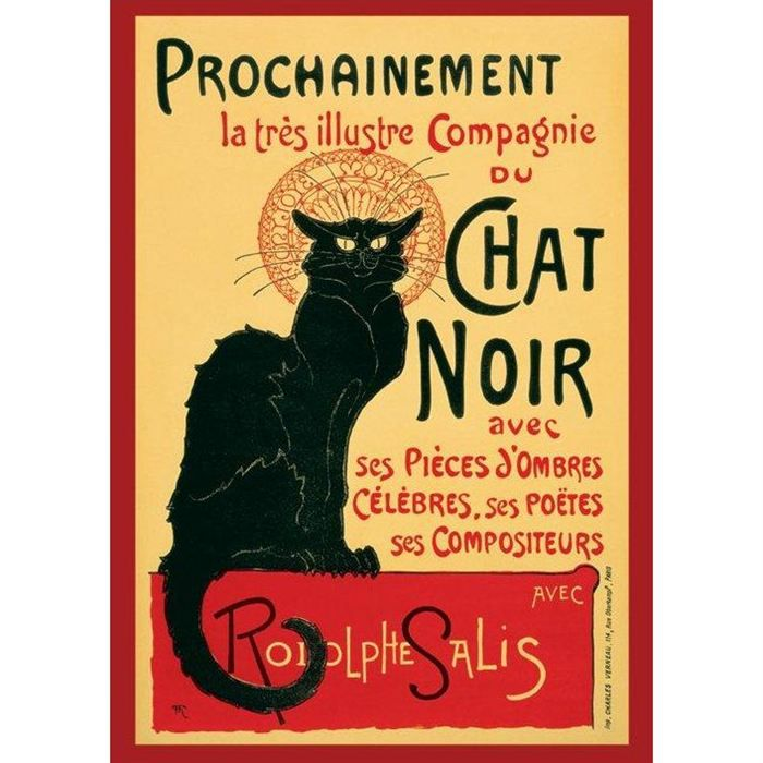 affiche vintage compagnie le chat noir achat vente affiche poster cdiscount. Black Bedroom Furniture Sets. Home Design Ideas