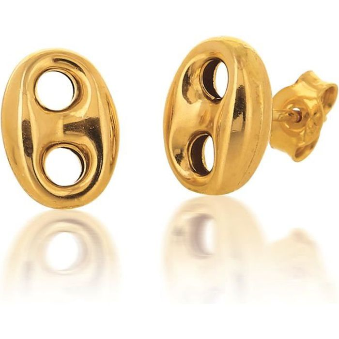 boucle d'oreille homme or 18 carats