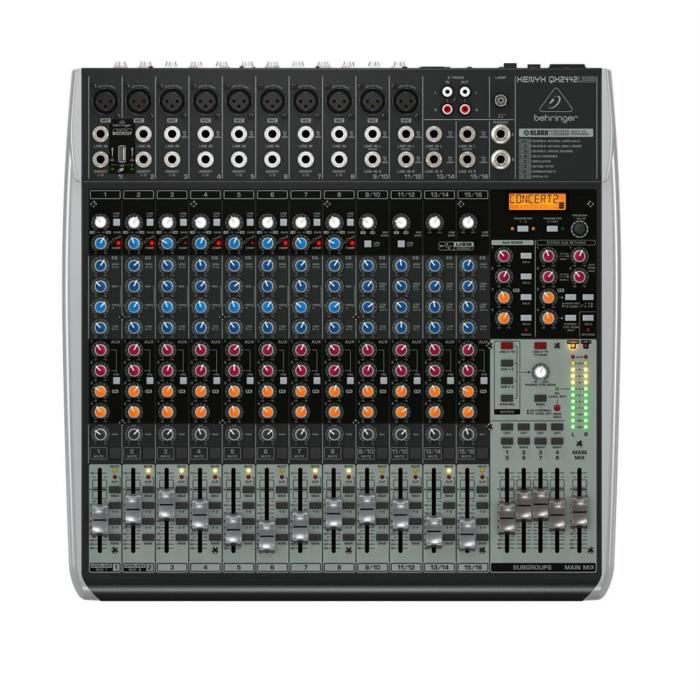behringer xenyx qx2442usb table de mixage table de mixage avis et prix pas cher cdiscount. Black Bedroom Furniture Sets. Home Design Ideas
