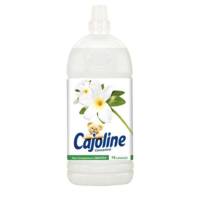 LESSIVE CAJOLINE Adoucissant tout simplement jasmin - 1,9L