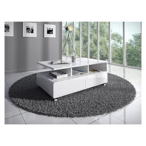 Table basse design Roulo blanc - Achat   Vente table basse Table ... fd36f16faa82