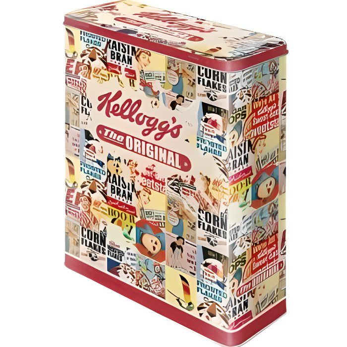 Bo te en m tal rectangulaire xl kellogg 39 s the original - Boite a the originale ...