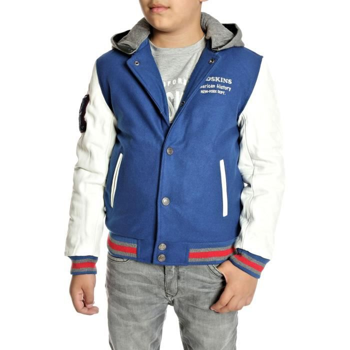 veste redskins enfant teddy new bleu achat vente veste cdiscount. Black Bedroom Furniture Sets. Home Design Ideas