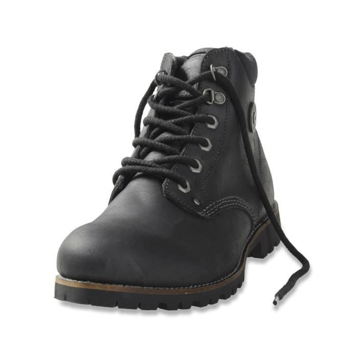 diesel bottines homme en cuir utah noir noir noir achat vente bottine cdiscount. Black Bedroom Furniture Sets. Home Design Ideas