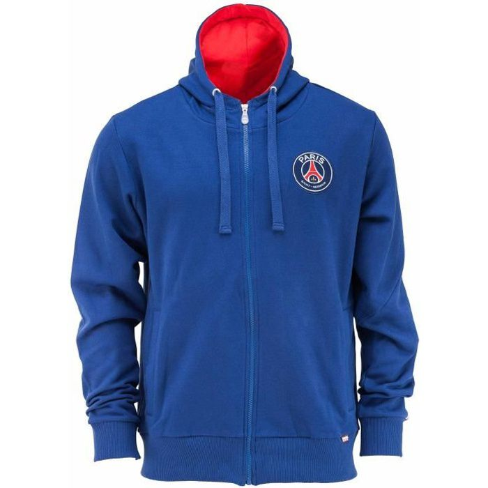 Sweat zip capuche PSG Collection officielle PARIS SAINT GERMAIN