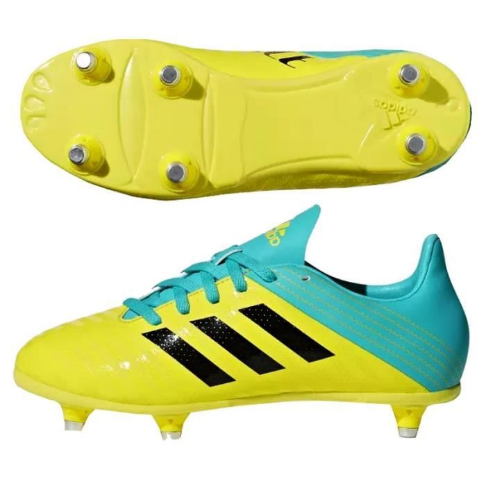 100% authentic best selling the sale of shoes Chaussures rugby Adidas Malice SG enfant jaune - Prix pas ...
