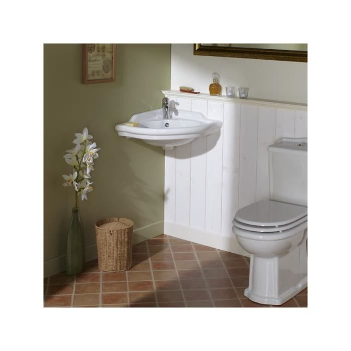 lavabo d angle blanc r 233 tro achat vente robinetterie sdb 121004 lavabo d angle blanc