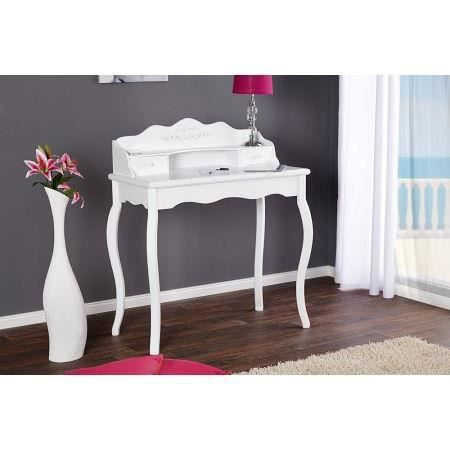 console baroque linsay en bois blanc 2 tiroirs achat. Black Bedroom Furniture Sets. Home Design Ideas