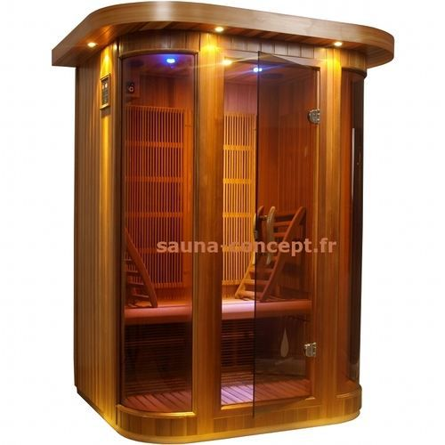 sauna infrarouge altair 2 places red cedar achat vente kit sauna sauna infrarouge altair 2. Black Bedroom Furniture Sets. Home Design Ideas