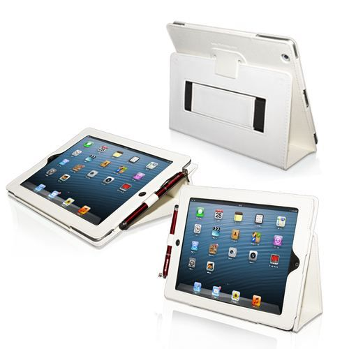 snugg housse ipad 3 ipad 4 r tina cuir blanc prix pas cher cdiscount. Black Bedroom Furniture Sets. Home Design Ideas