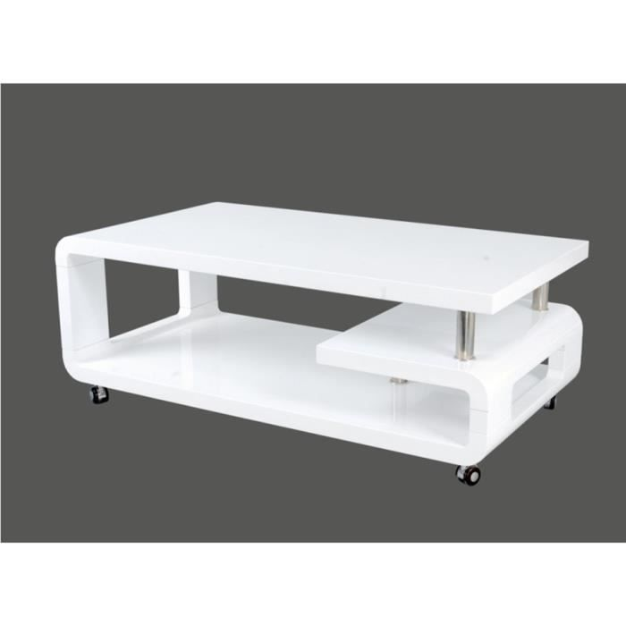 Table basse swithome alice blanche achat vente table basse table basse sw - Table basse blanche cdiscount ...