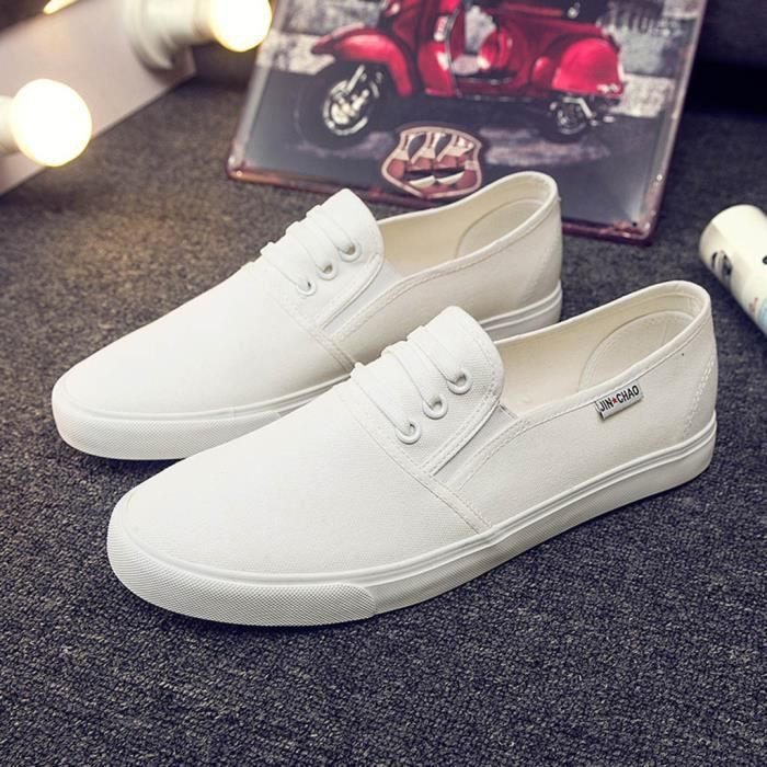 Lace Up Mode toile hommes sport oisifs Chaussures Casual solides Chaussures plates#!5915