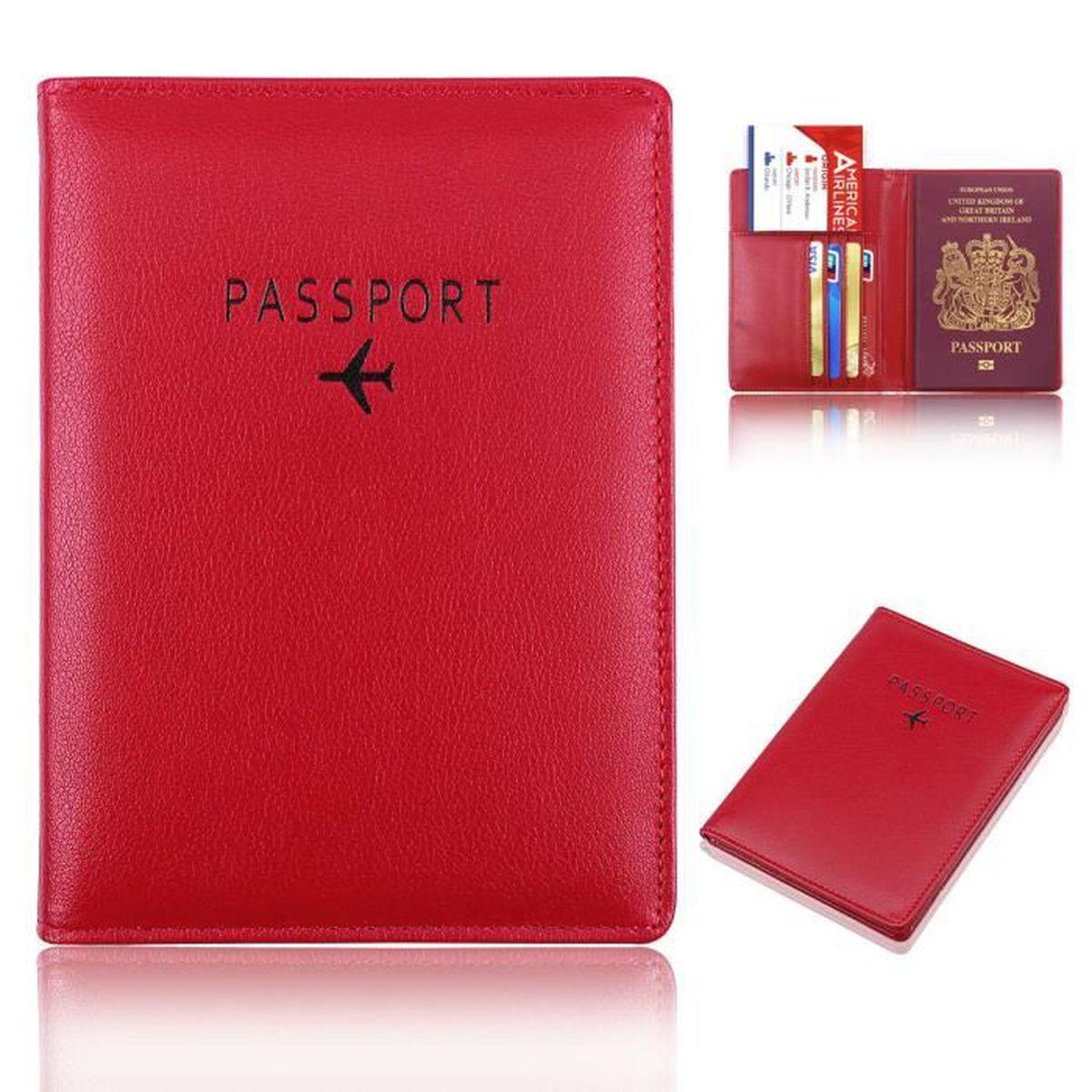 R Porte-passeport Organisateur Housse etui Protege-passeports Portefeuilles Passport Holder Vigne De Fleur-Cafe SODIAL