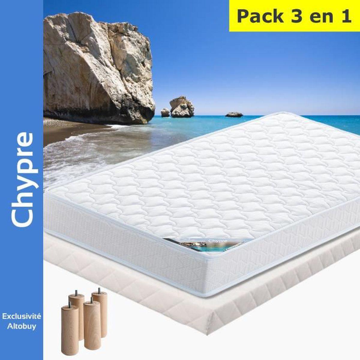 AltoBuy Chypre Pack Matelas Lattes 160x200
