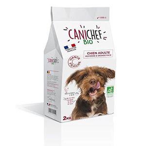 CROQUETTES Canichef croquettes BIO chien grande race 2 kg